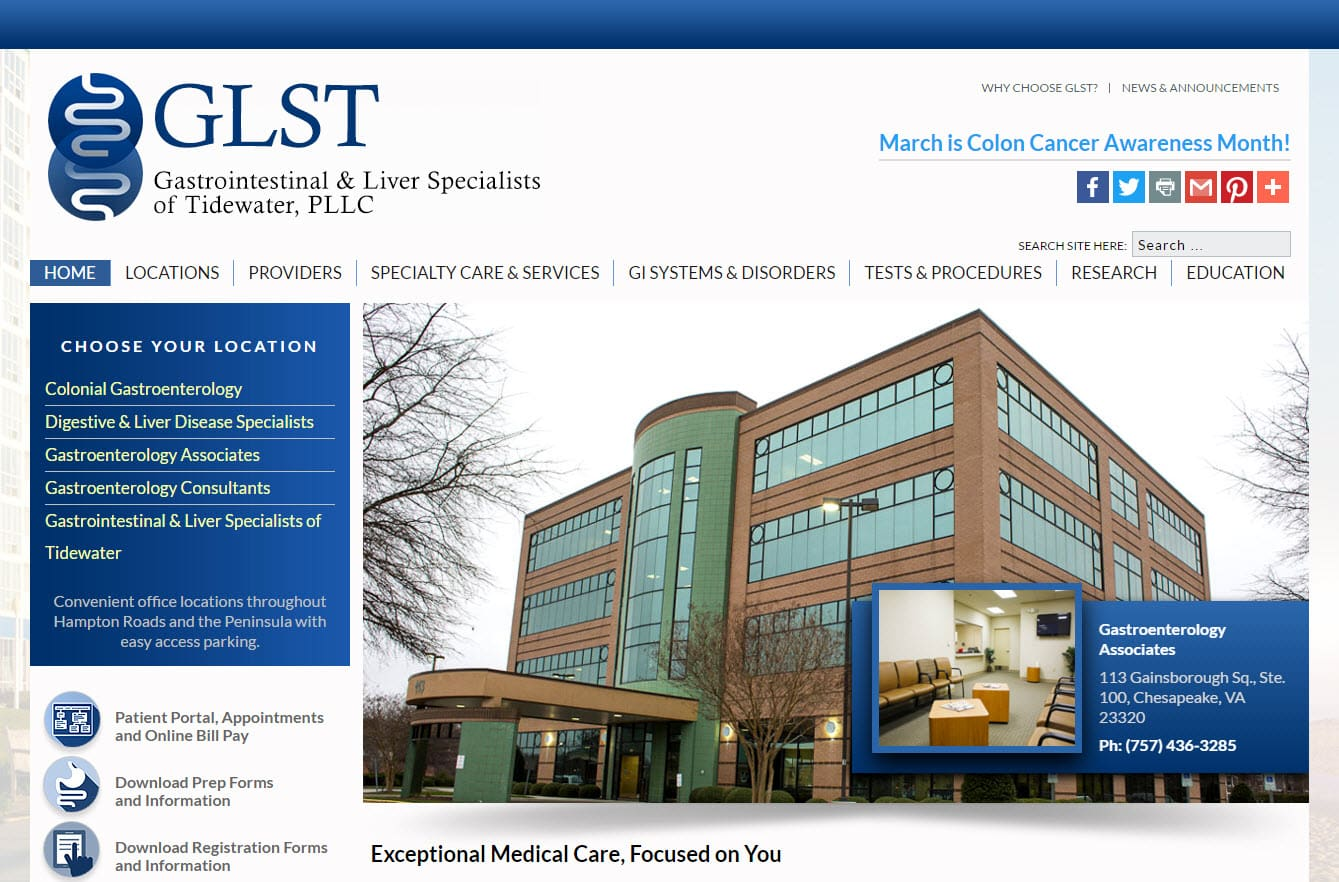 Website design for medical practices