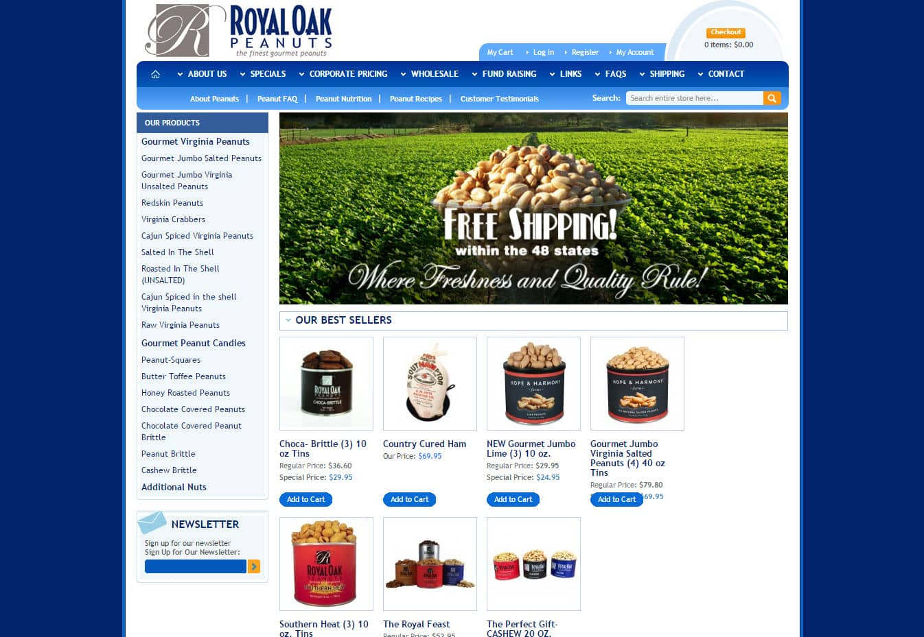 Ecommerce websites for selling products and services