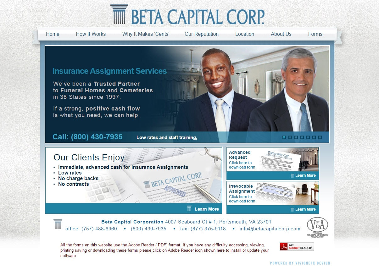 Website design financial professionals