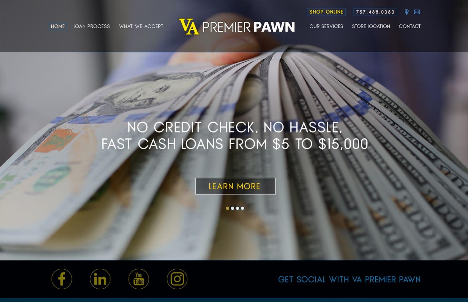 Web design for Loan Business