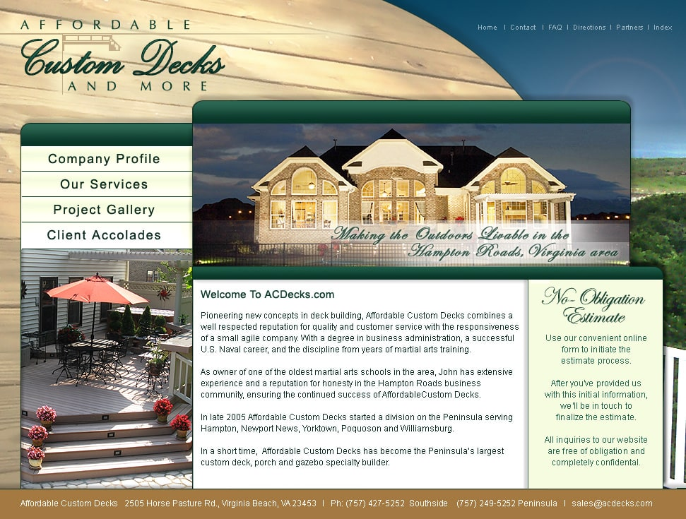 Home Remodeling Website Design Virginia