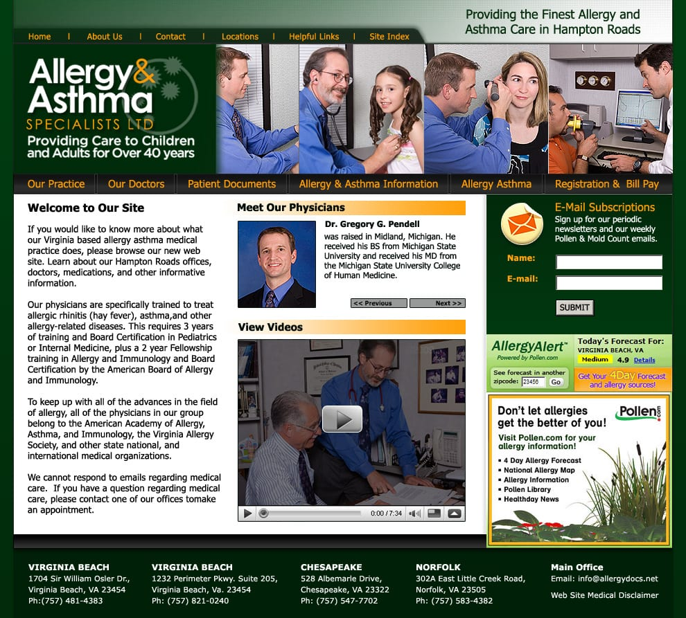 Web Design Medical Practice, Site Design Medical Practice