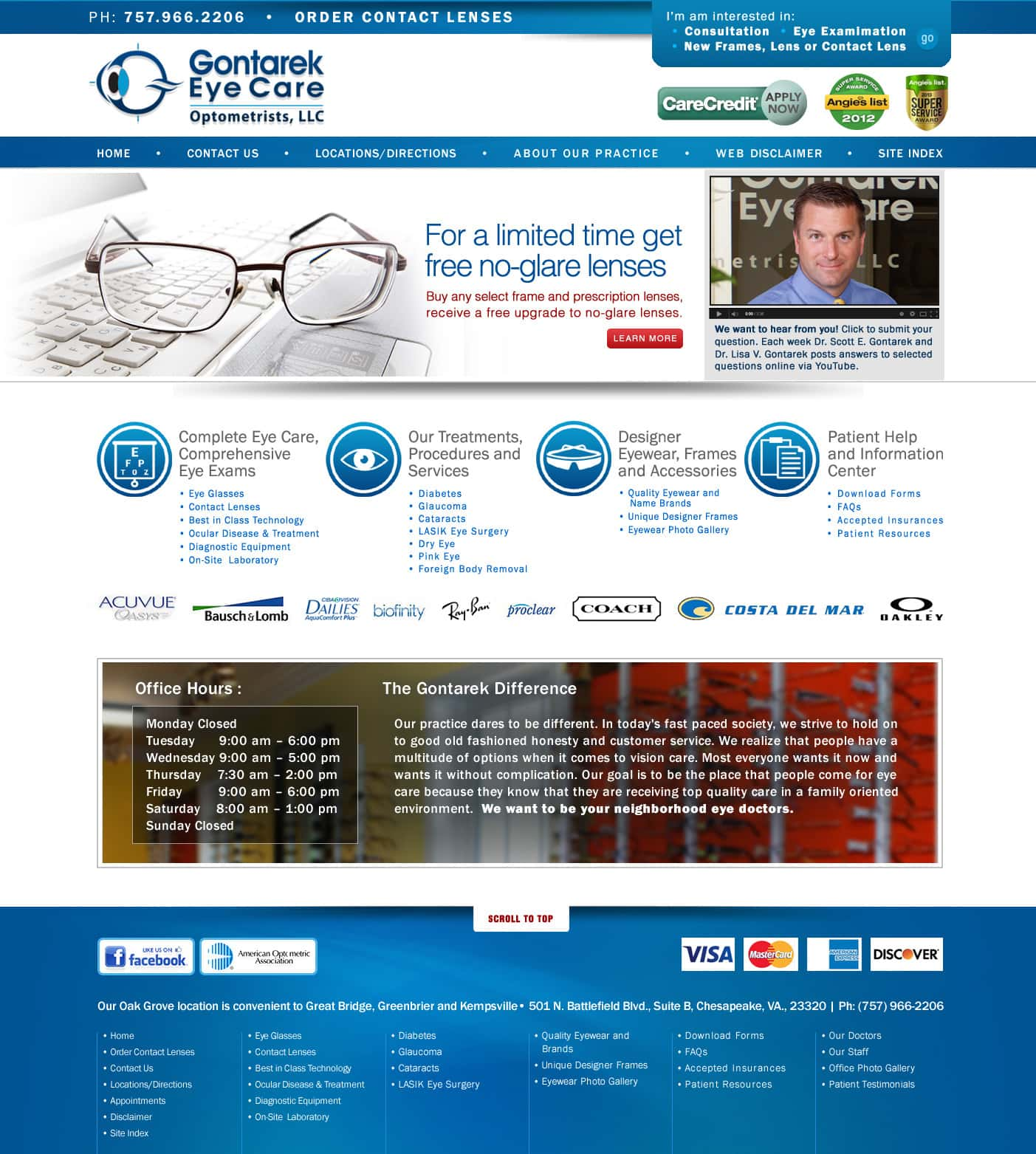 Web Design for Eye Doctors