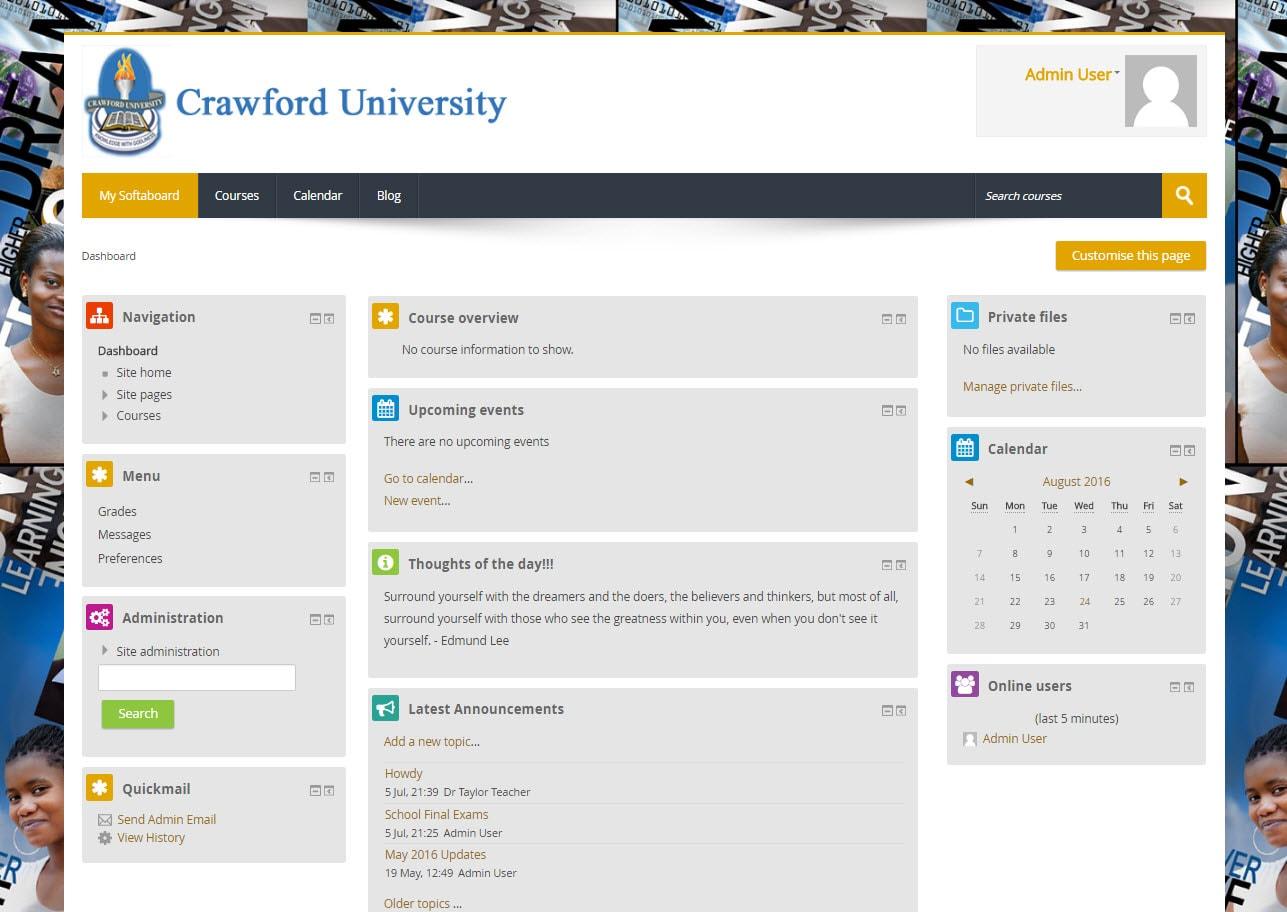 Moodle websites, Moodle education website design