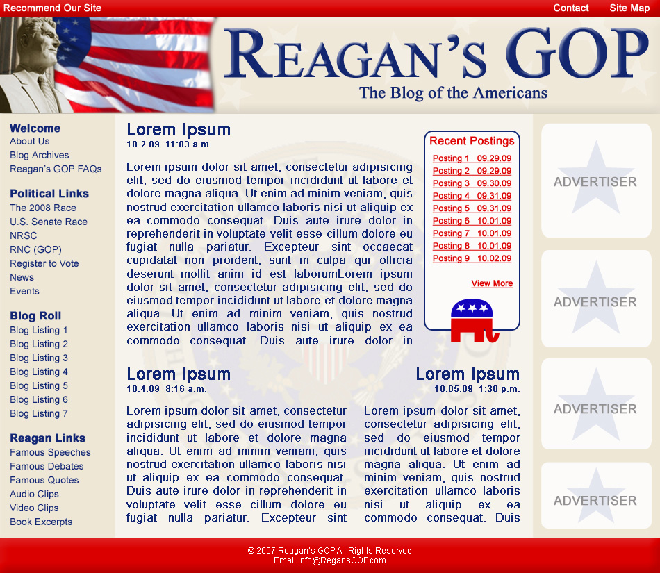 Website design Political Campaigns, Candidates