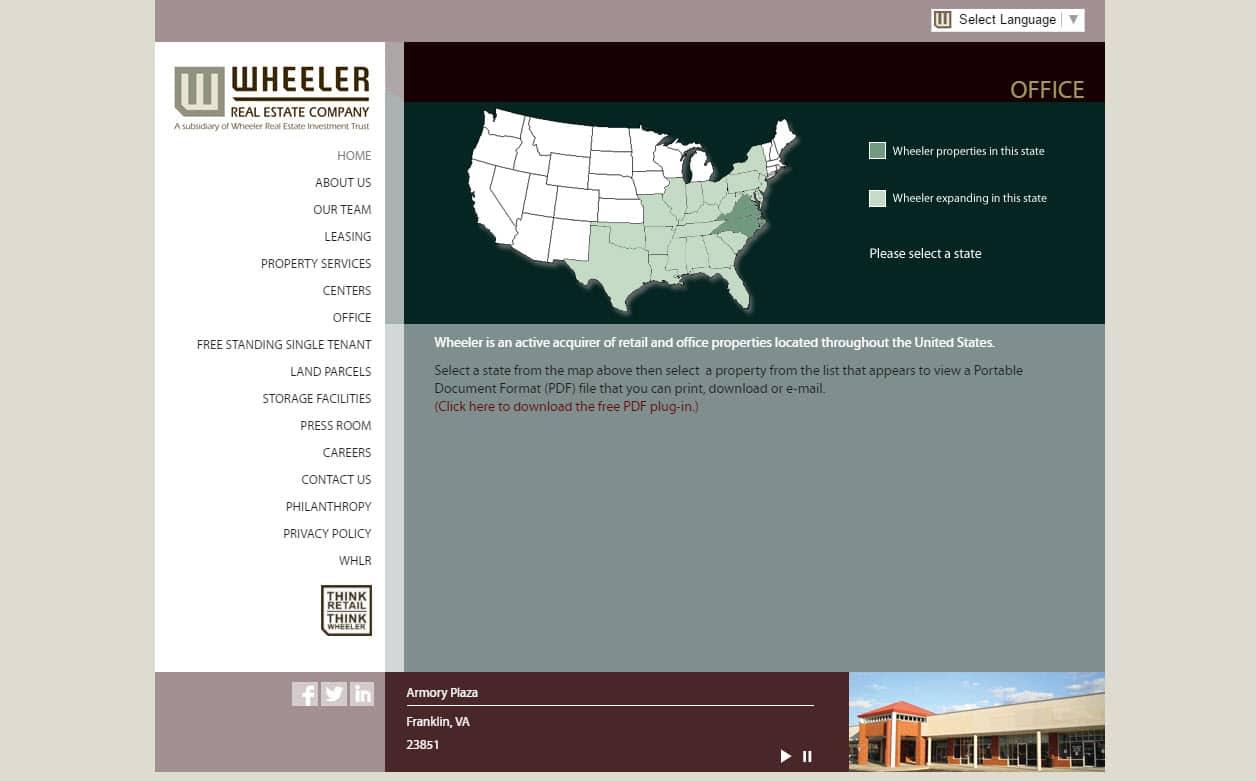 Website design for REAL ESTATE business