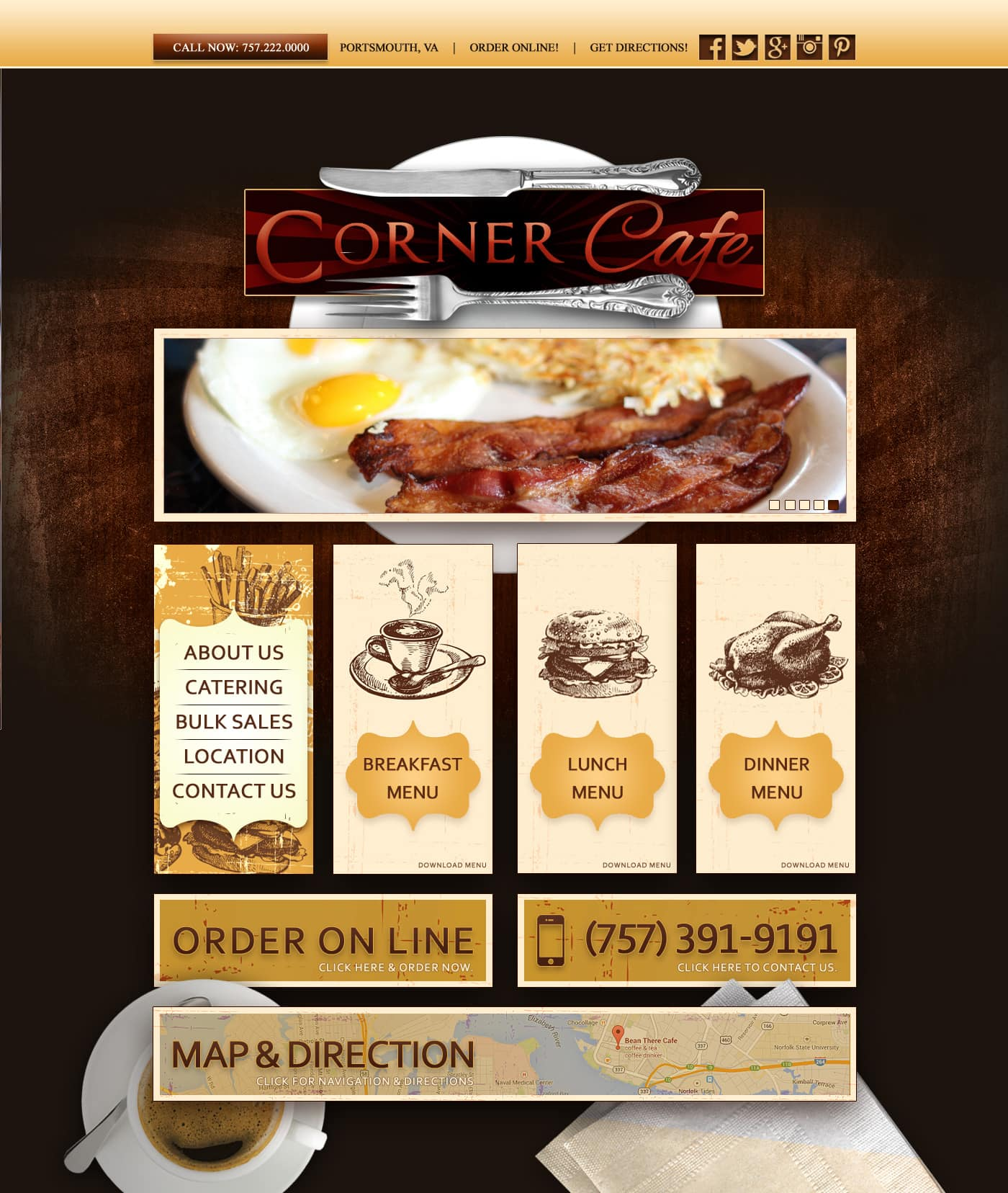 Website design Restaurants