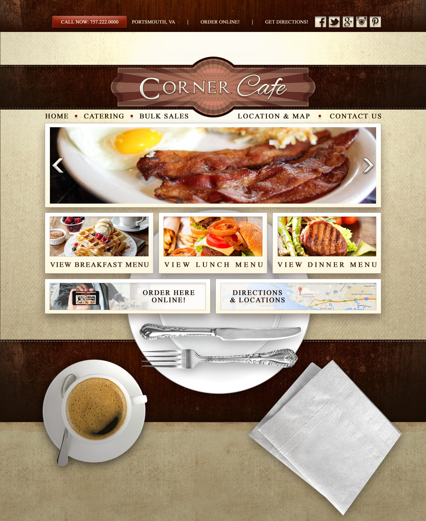 Web design for restaurants and cafes