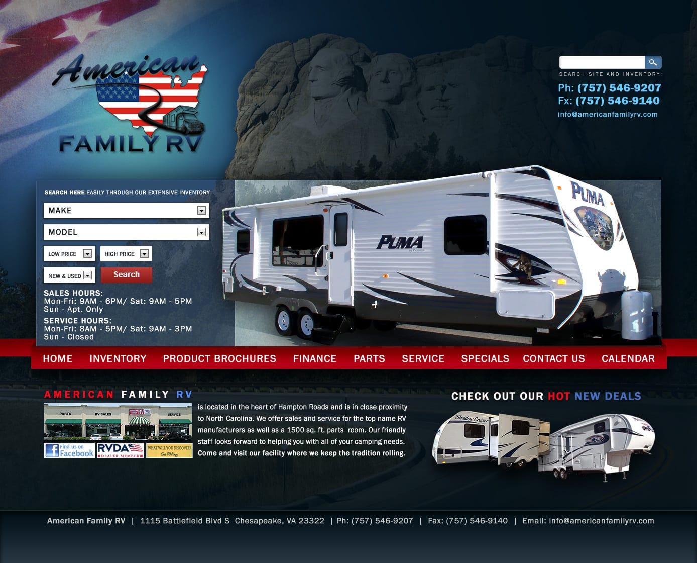 Website design Auto, Truck, RV Dealerships