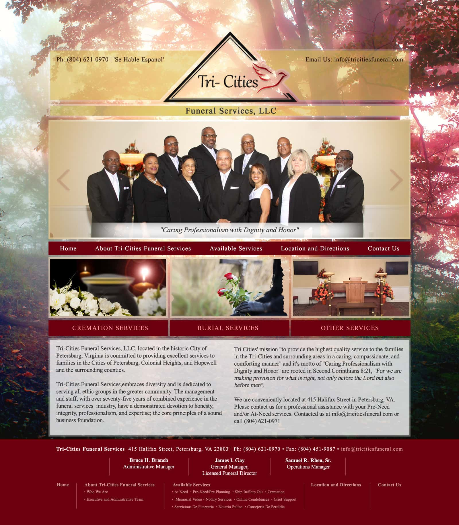 Web design funeral service homes funeral business visionefx - Funeral home web design ...
