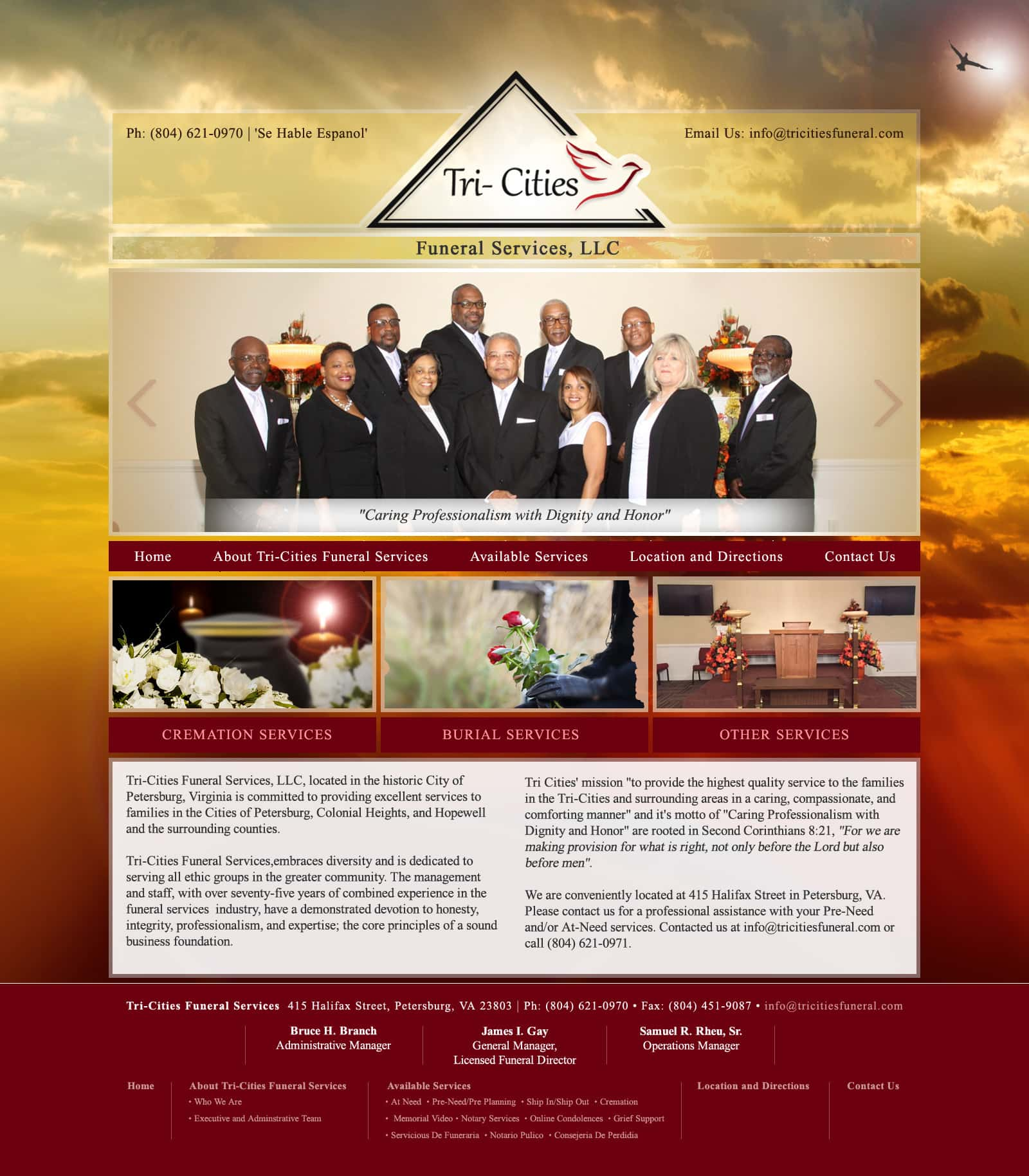 Web Design For Memorial Sites