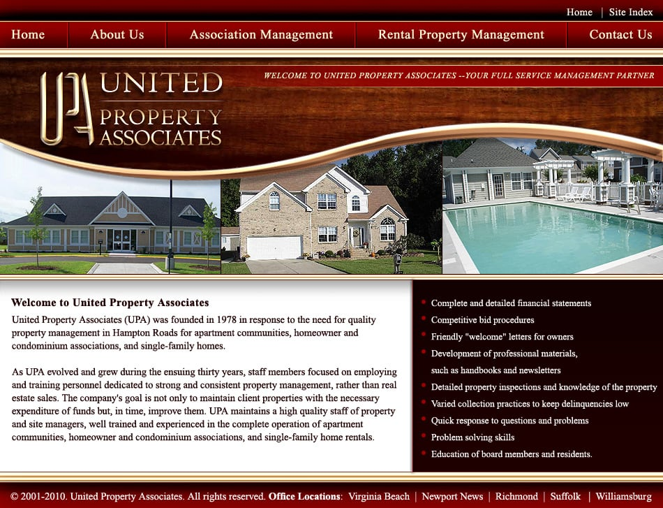 Website design apartments richmond va visionefx for Apartment web design