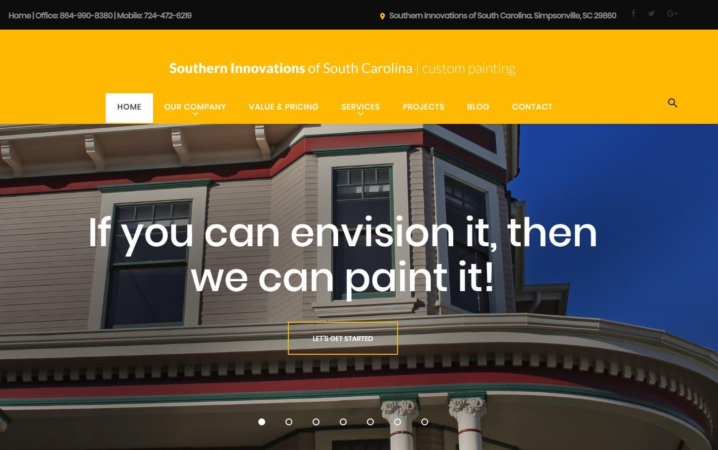 Website Design painting companies South Carolina | SEO
