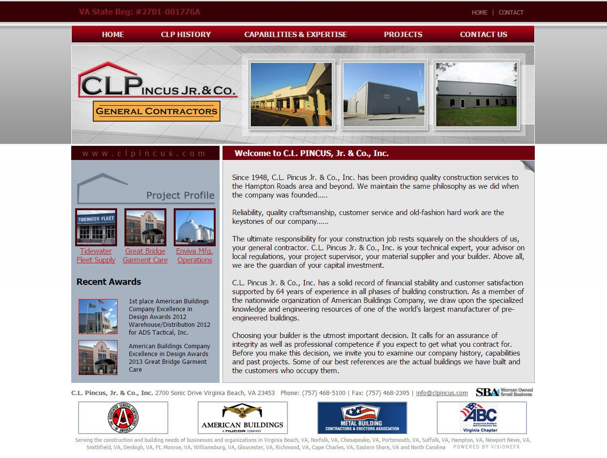 Website Design For General Contractors Seo Services Visionefx