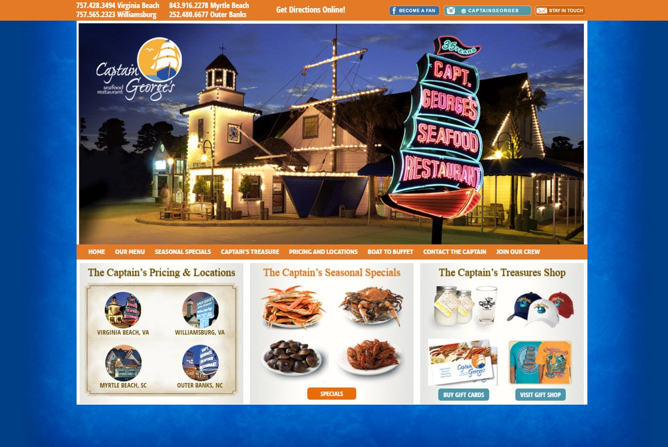 Captain george's virginia beach coupons