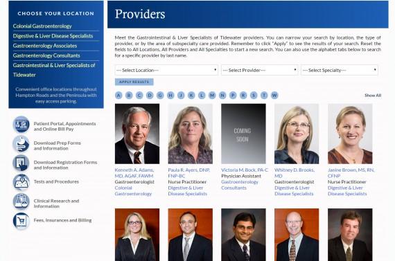 Website Design For Gastroenterology Medical Practices Seo Visionefx