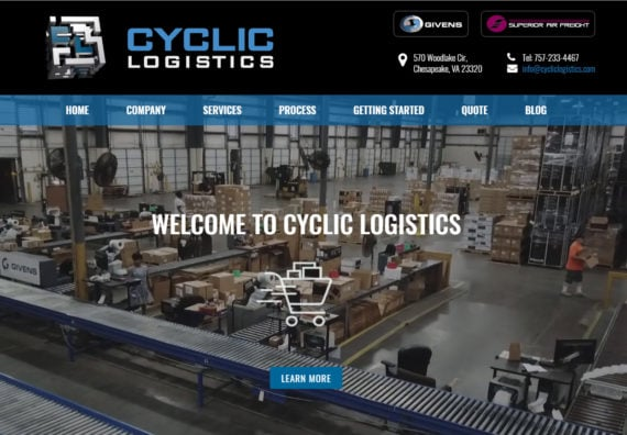 website design for logistics business