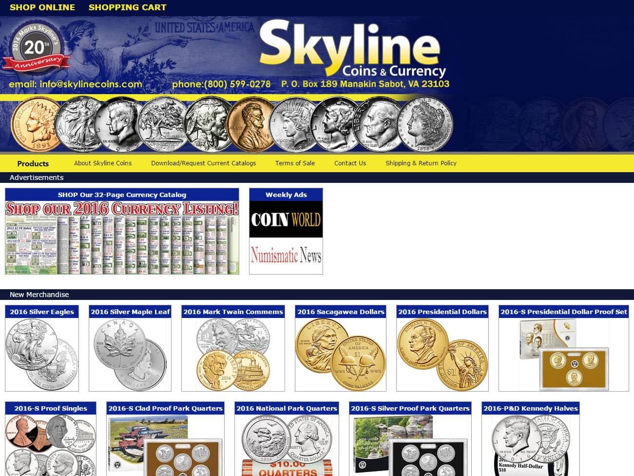 skyline coins virginia