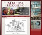 ADA Handicap Builder Website design