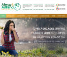 Website design allergy asthma doctors
