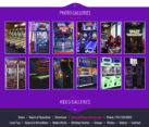 Entertainment Arcade Website Design