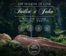 Web design wedding invitation announcement