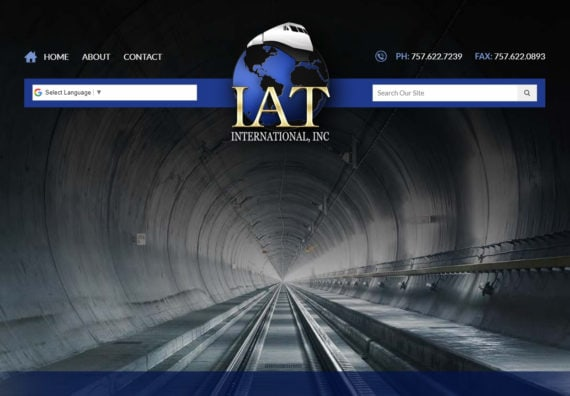 website design for railway industry