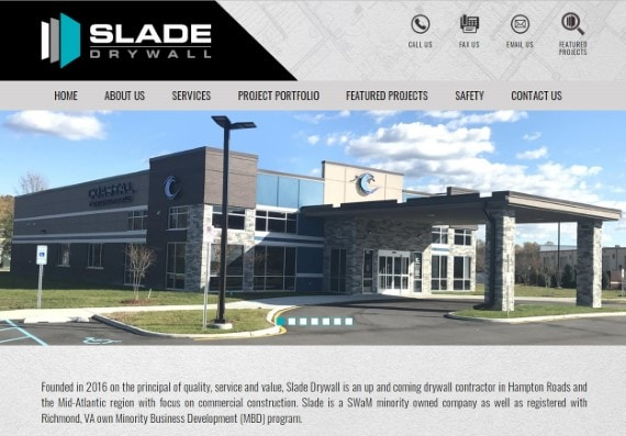 Website Design Commercial Drywall Construction Business